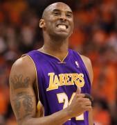 Kobe Bryant celebra la victoria (Photo by Ronald Martinez/Getty Images)